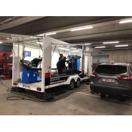 Remorque pour le service pneus mobile - bandenservice trailer