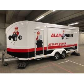 Bandenservice trailer voor mobiele bandenwissel