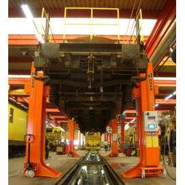 Colonnes de levage Nordlift pour trains et trams